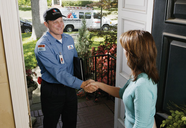 in-home estimate from A-PLUS Service Experts Heating & Air Conditioning